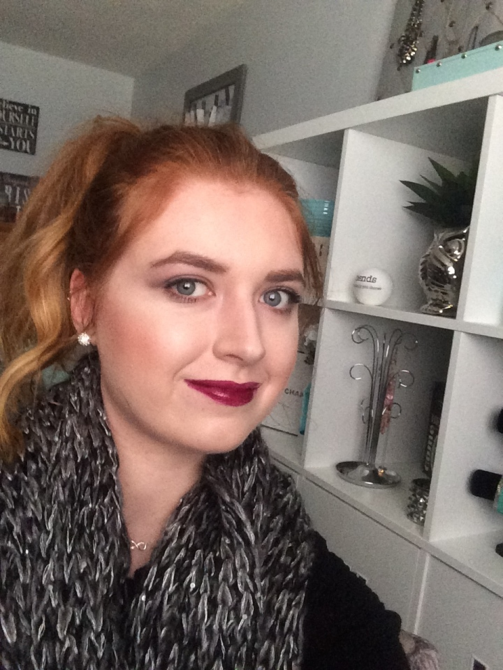 Fall Makeup Look- Dark Lip