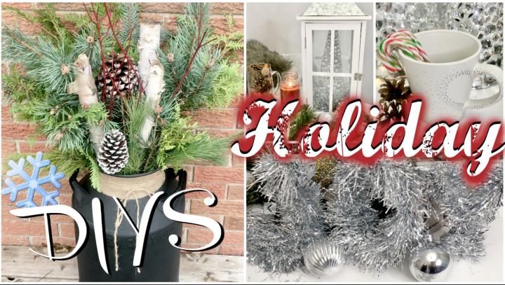 Holiday DIYS – SIMPLE andAFFORADABLE
